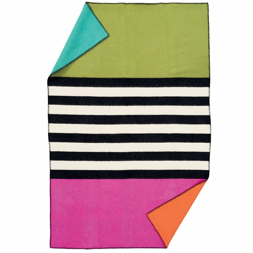 Klippan Blanket for Life Wool Blanket, Thin Stripe