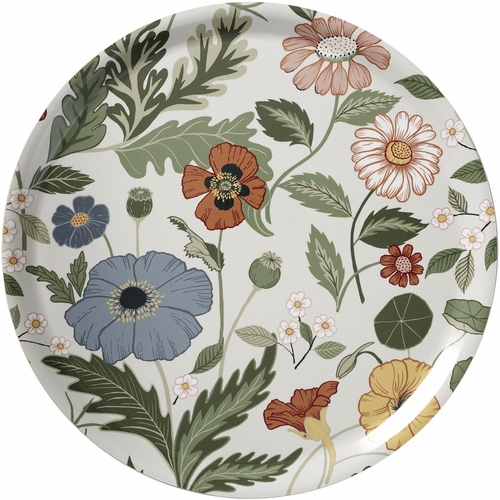 Klippan Bloom Large Round Tray, Creme - 15""