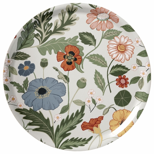 Bloom Large Round Tray, Cr�me