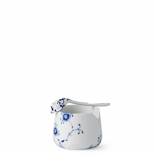 Royal Copenhagen Blue Elements Sugar Bowl with Spoon