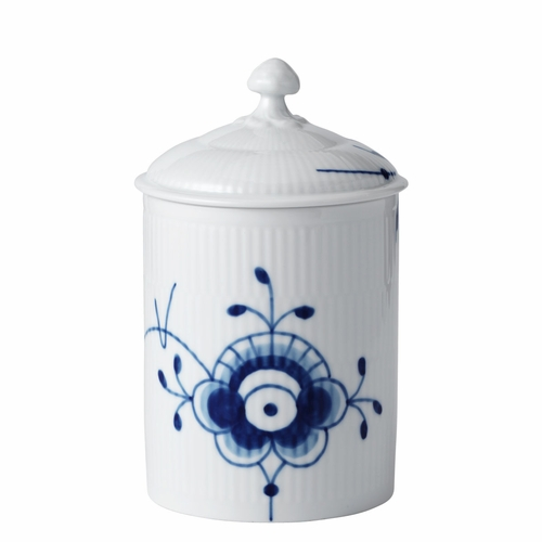 Royal Copenhagen Blue Fluted Mega Jar with Lid, 6.25""