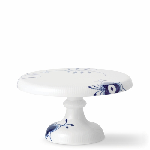 Blue Fluted Mega Small Cake Stand, 9.25""