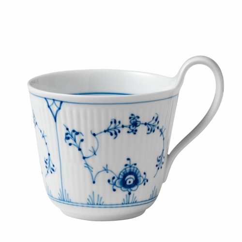 Blue Fluted Plain High Handled Mug