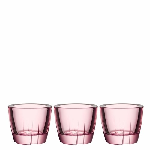 Kosta Boda Bruk Anything Bowl Votive, Set of 3 - Light Pink