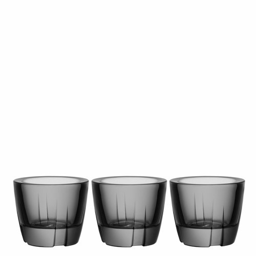 Bruk Anything Bowl Votive, Set of 3 - Smoke Grey