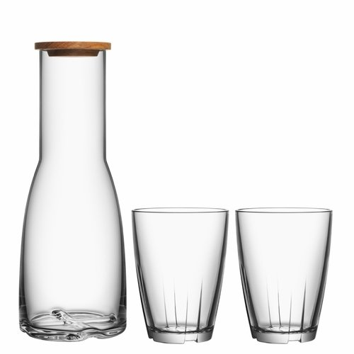 Kosta Boda Bruk Carafe & Glasses Set - Clear