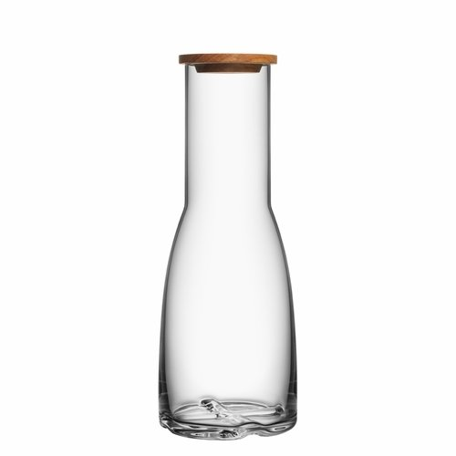 Bruk Carafe with Oak Lid - Clear