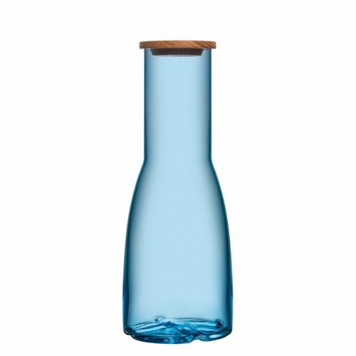 Bruk Carafe with Oak Lid - Water Blue