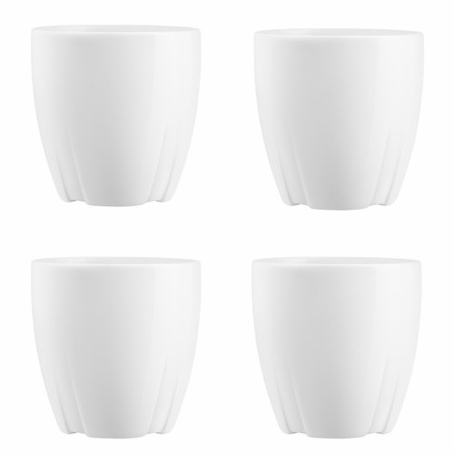 Kosta Boda Bruk Espresso Mug, Set of 4 - White