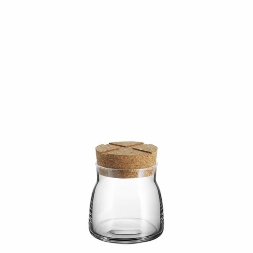 Kosta Boda Bruk Jar with Cork Lid, Small - Clear