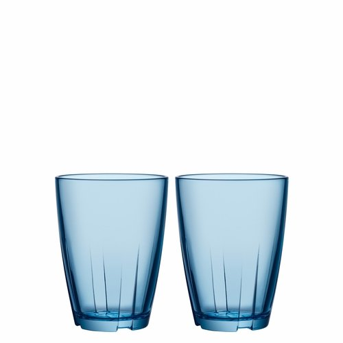 Bruk Tumbler, 11.5 oz, Set of 2 - Water Blue