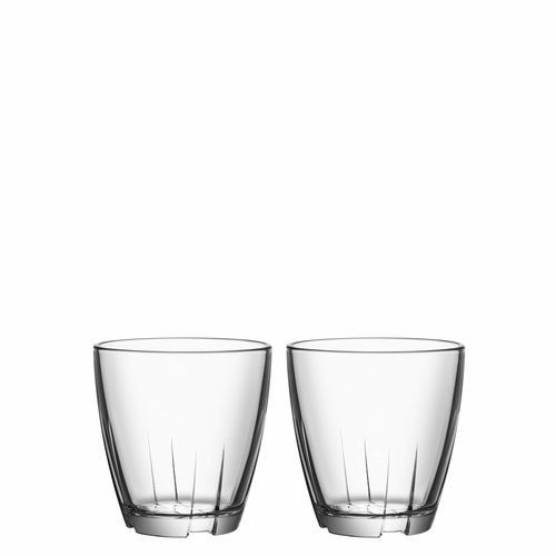 Bruk Tumbler, 6.6 oz, Set of 2 - Clear