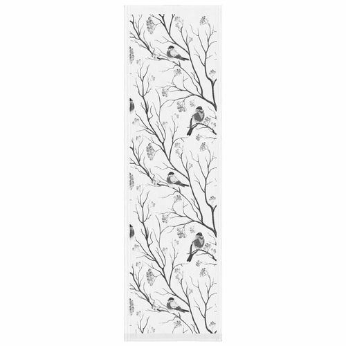 Bullfinches Table Runner, 14 x 47 inches