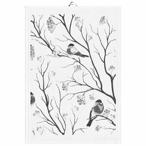 Ekelund Weavers Bullfinches Tea Towel, 14 x 20 inches