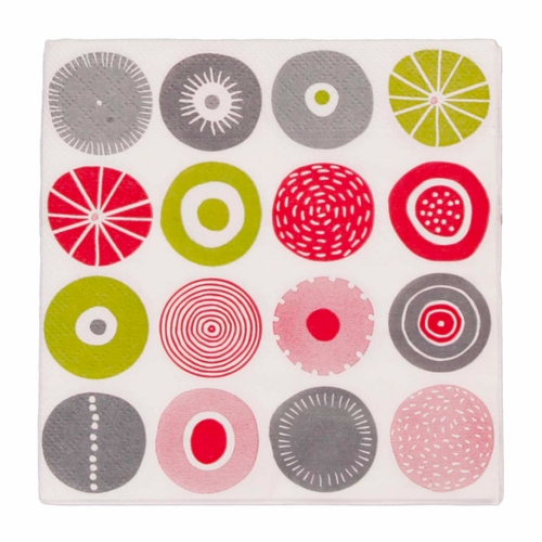 Candy Paper Napkins, 3 Packs of 20