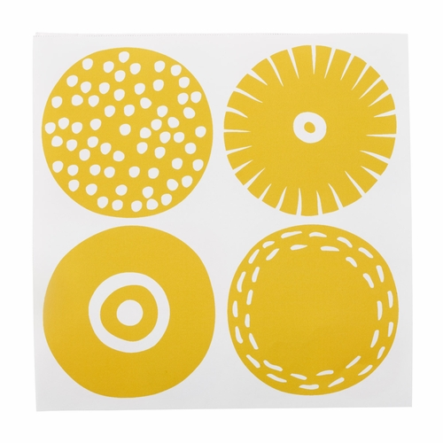 Candy Paper Napkins, Yellow, 3 Packs of 20