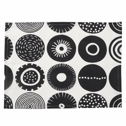 Klippan Candy Placemat, Black, Set of 4