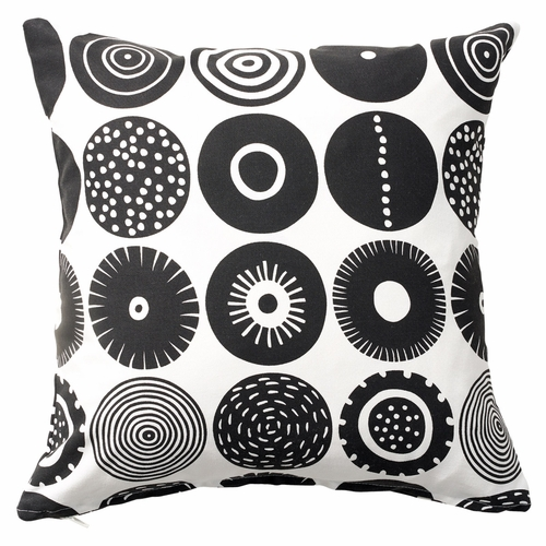 Candy Printed Cushion Cover, Black