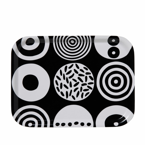 "Bengt & Lotta Candy Rectangle Tray, Black - 8"" X 10.6"""