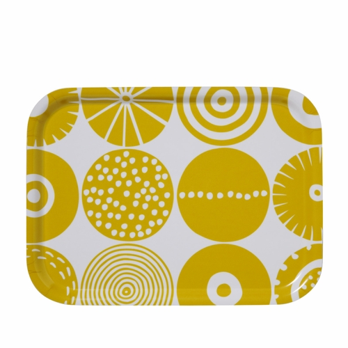 "Bengt & Lotta Candy Rectangle Tray, Yellow - 8"" X 10.6"""