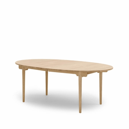"Carl Hansen and Son CH338 Dining Table, Prepared for Two Leaves, Oak Oil - 78.8"" x 45.3"""