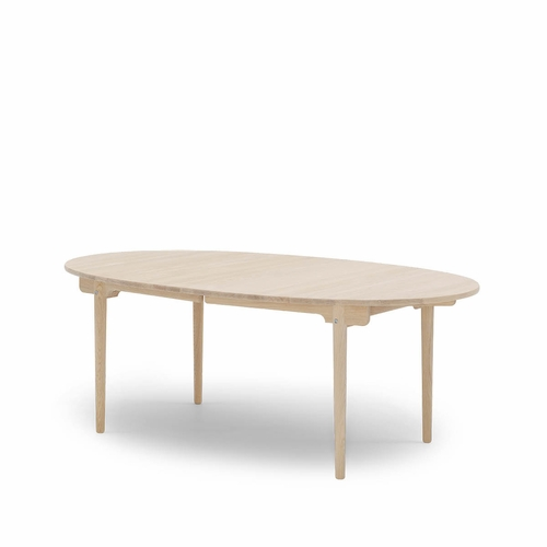 """Carl Hansen and Son CH338 Dining Table, Prepared for Two Leaves, Oak Soap - 78.8"""" x 45.3"""""""