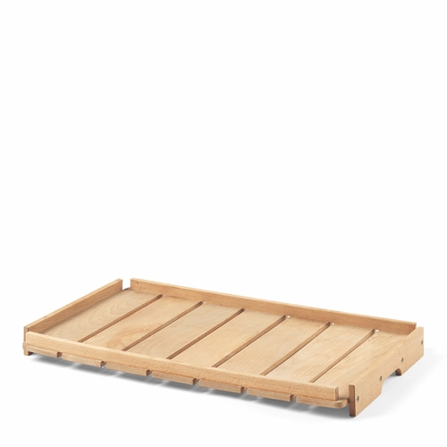 Carl Hansen & Son BM1069 Outdoor Tray for Footstool, Teak Untreated