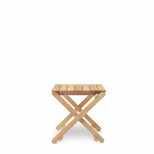 Carl Hansen & Son BM5868 Outdoor Side Table, Teak Untreated