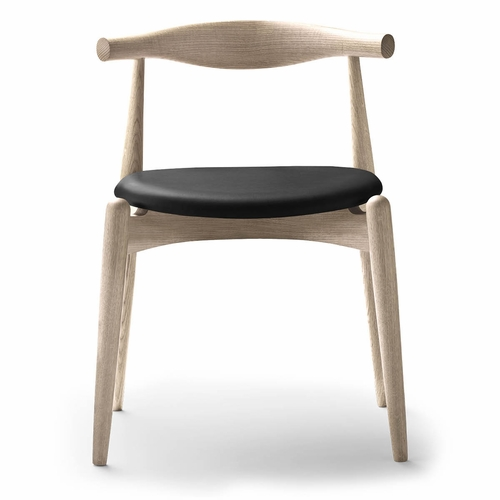 Carl Hansen & Son CH20 Elbow Chair, Oak White Oil, Thor 301 Leather seat