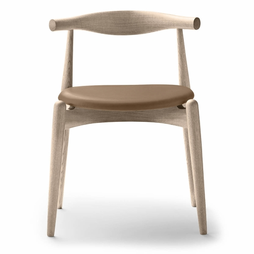 Carl Hansen & Son CH20 Elbow Chair, Oak White Oil, Thor 325 Leather seat