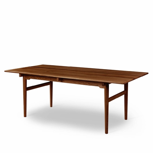 "Carl Hansen & Son CH327 Dining Table, Walnut Lacquer - 74.8"" X 37.4"""