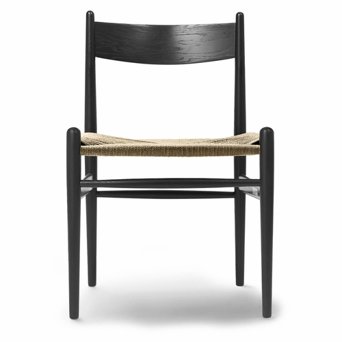 Carl Hansen & Son CH36 Dining Chair, Oak Black, Natural Paper Cord Seat