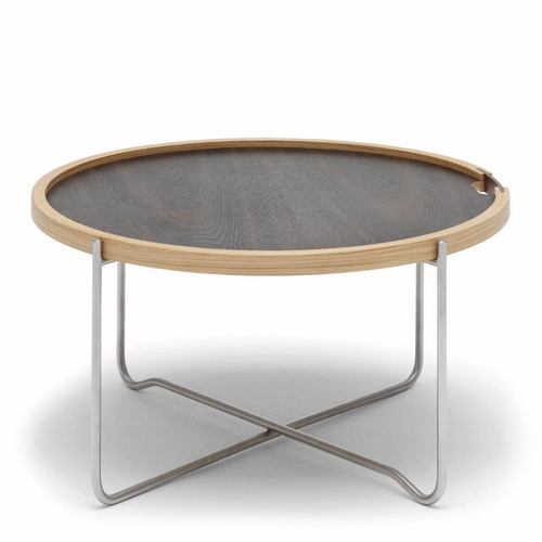 Carl Hansen & Son CH417 Tray Table, Walnut Oil/Oak Oil