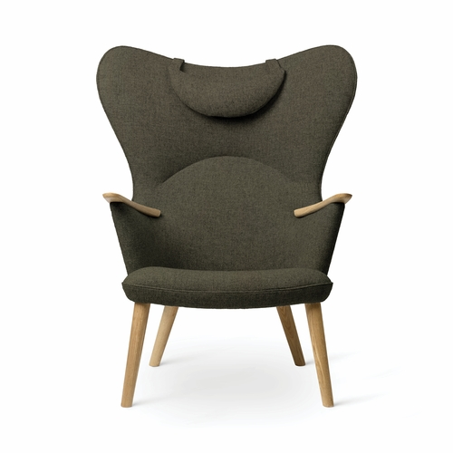 Carl Hansen & Son CH78 Mama Bear Chair, Oak - Fiord 961 Upholstery