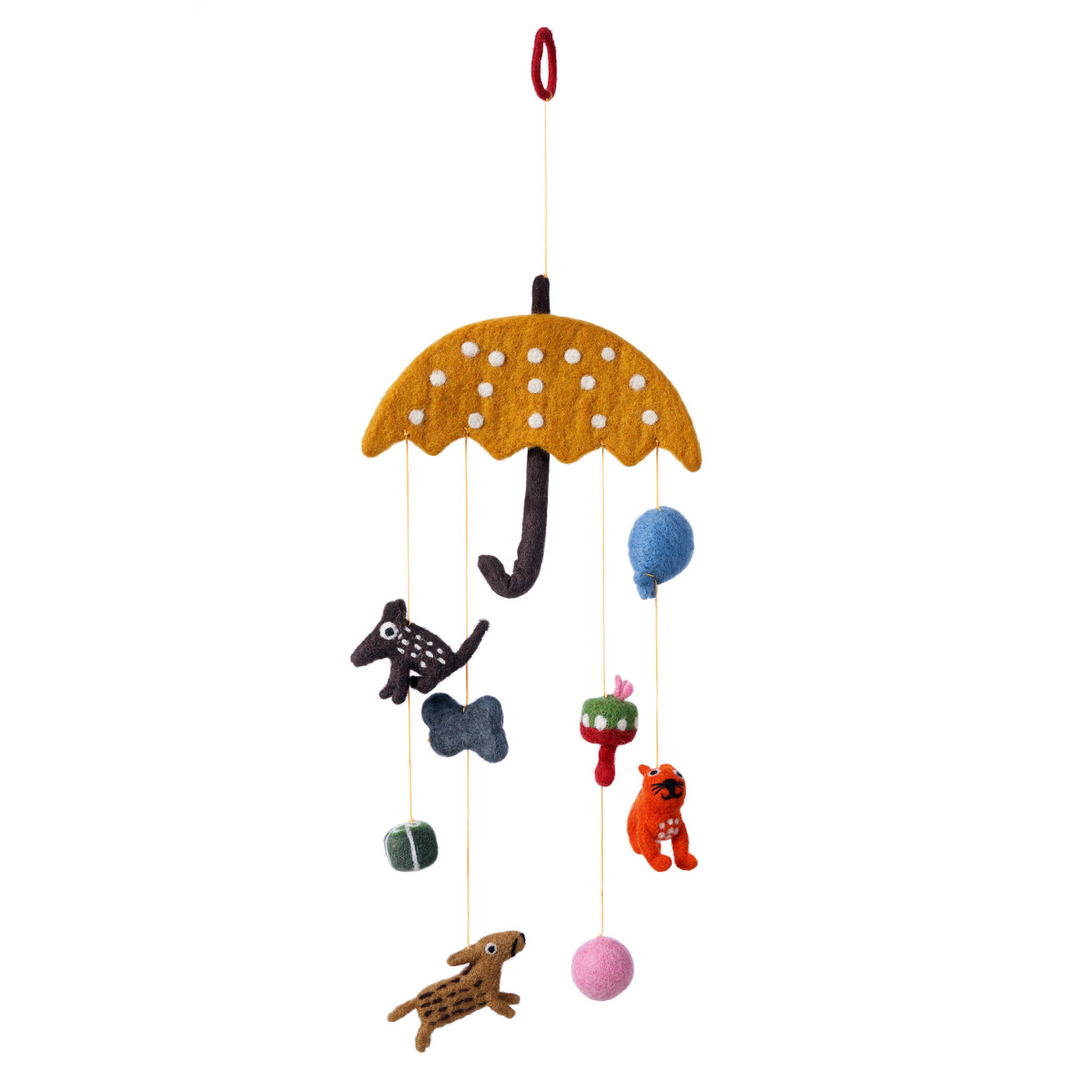 Klippan Cats And Dogs Hand Felted Wool Mobile