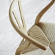CH24 Wishbone Chair, Forest Green, Natural Paper Cord Seat