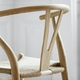 CH24 Wishbone Chair, Rosy Blush, Natural Paper Cord Seat