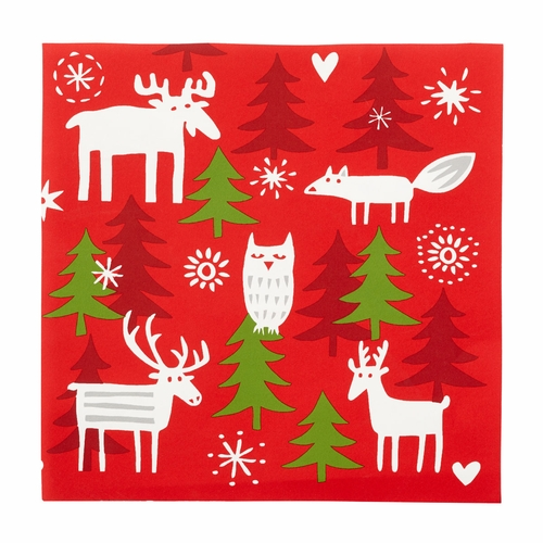 Christmas Forest Paper Napkins, 3 Packs of 20
