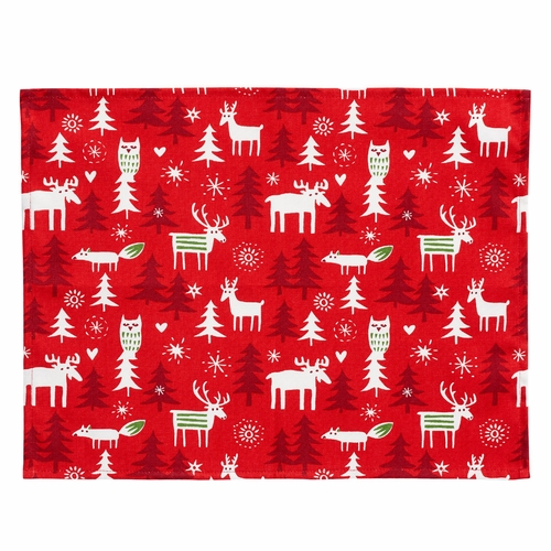 Christmas Forest Placemat, Set of 4