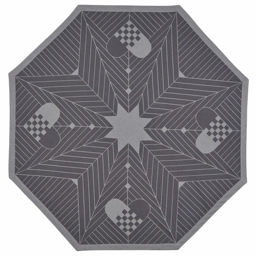 Georg Jensen Damask Christmas Octagon Christmas Tree Rug, Grey