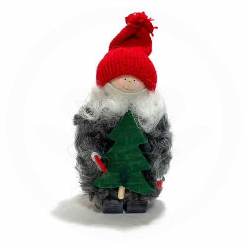 Swedish Christmas Tomte Kid with Tree