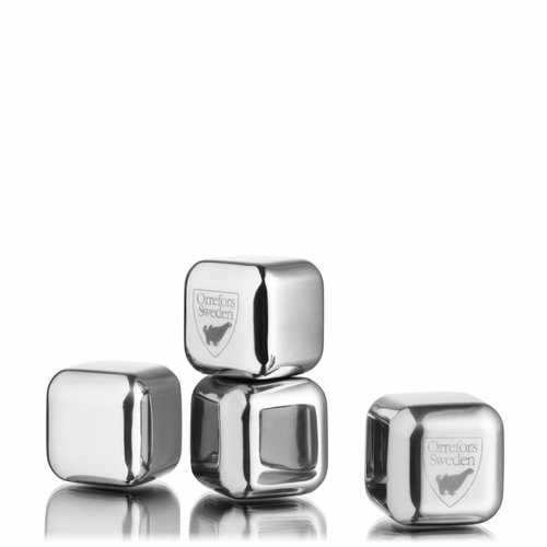 Orrefors City Ice Cubes, Set of 4