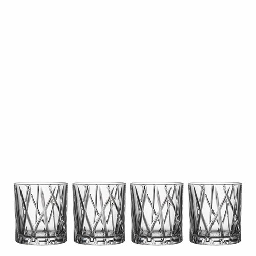 Orrefors City Old Fashioned, Set of 4