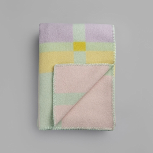 "Roros Tweed City Wool Blanket, Pastel - 53"" x 79"""