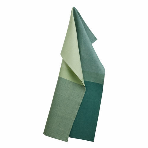 Georg Jensen Damask Colourblock Tea Towel, Jade Green (6 Left)