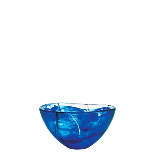 Kosta Boda Contrast Bowl, Medium Blue