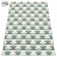 Pappelina Dana Plastic Rug - Army/Pale Turquoise/Vanilla, 2 1/4' x 5 1/4'