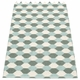 Pappelina Dana Plastic Rug - Army/Pale Turquoise/Vanilla, 2 1/4' x 8 1/4'