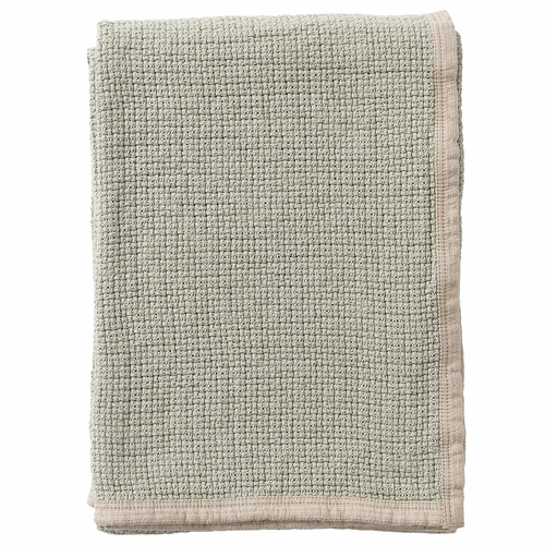 Klippan Decor Organic Cotton Blanket, Dusty Green
