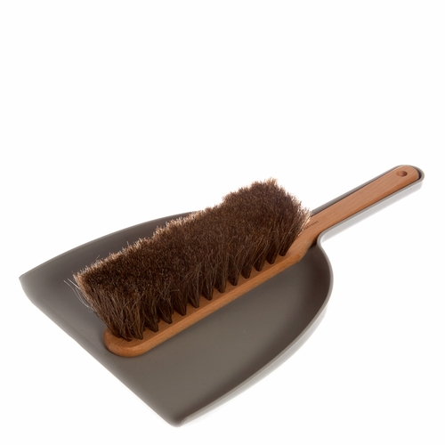 Iris Hantverk Dustpan and Brush Set - Grey